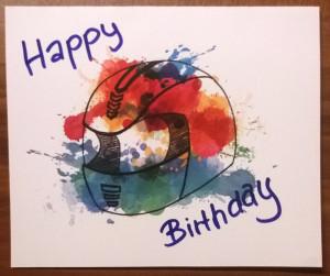 Geburtstagskarte Helm