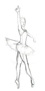 10 Minuten Skizze - Ballerina