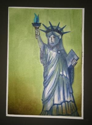 Freiheitsstatue LED Geburtstagskarte